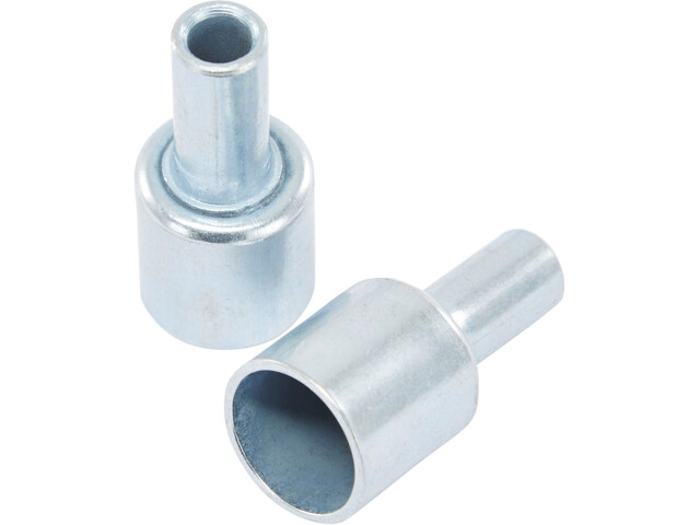 CAMPZ End Caps for glass fibre poles 13mm Set of 2 silber